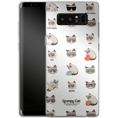 Samsung Galaxy Note 8 Silikon Handyhuelle - Grumpy Cat Pattern von Grumpy Cat