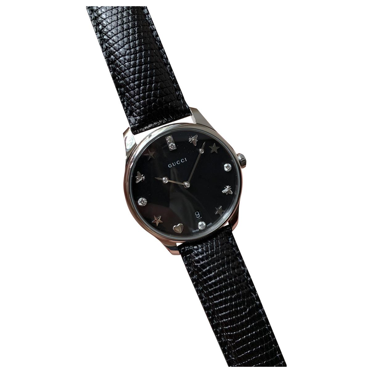 Gucci G-Timeless Uhr in  Schwarz Silber