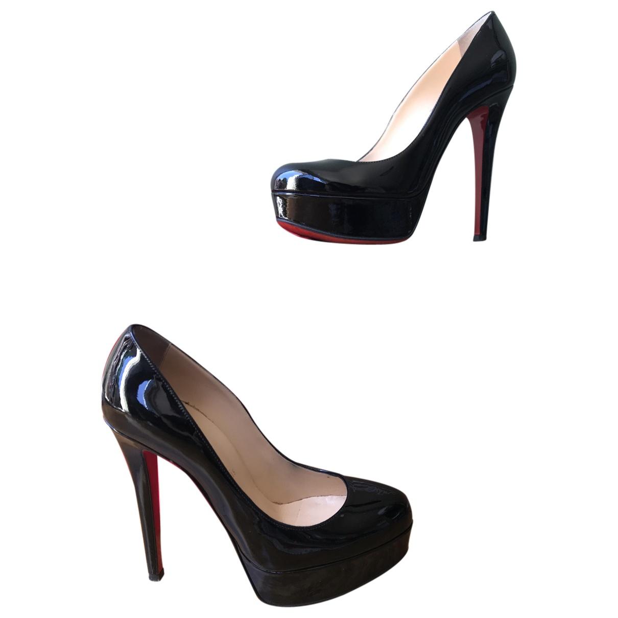 Christian Louboutin Bianca Black Leather Heels for Women 36 EU