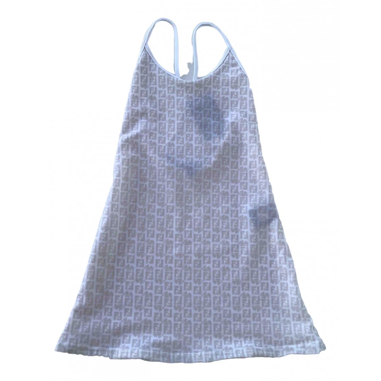 Fendi \N Kleid in  Beige Polyester