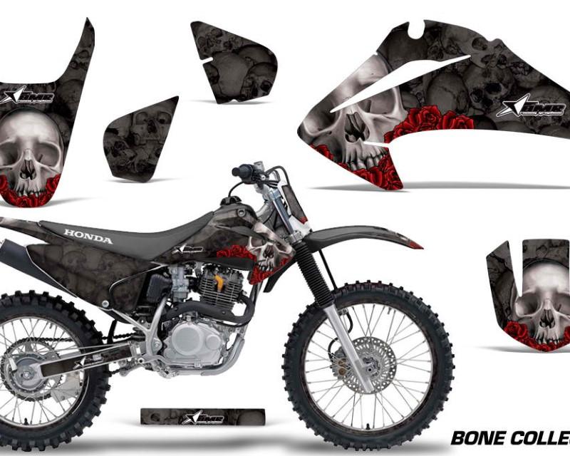 AMR Racing Graphics MX-HON-CRF150-CRF230F-03-07-BC K Kit Decal Wrap + # Plates For Honda CRF150   CRF230F 2003-2007áBONES BLACK