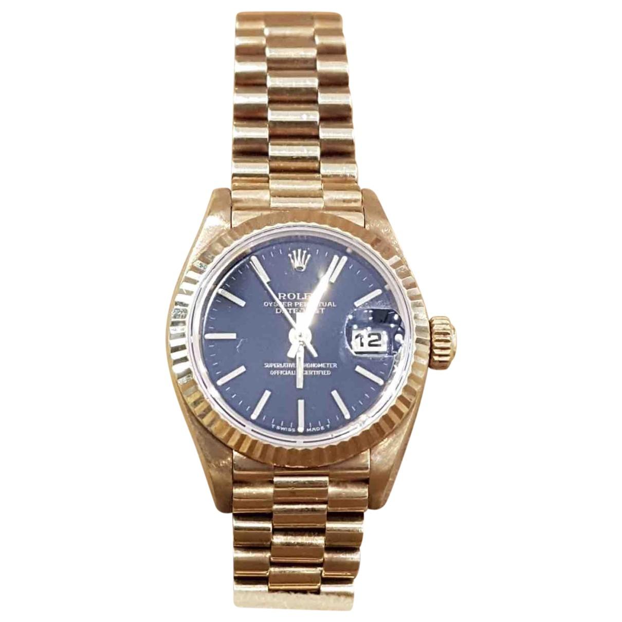 Rolex Lady DateJust 28mm Uhr in  Gelb Gelbgold