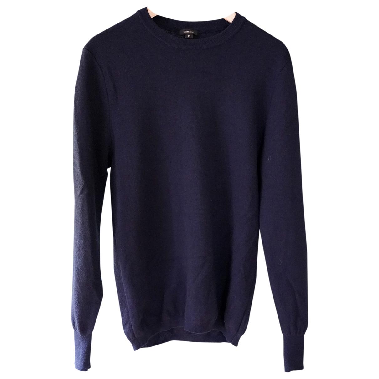 Bellerose \N Pullover.Westen.Sweatshirts  in  Marine Wolle