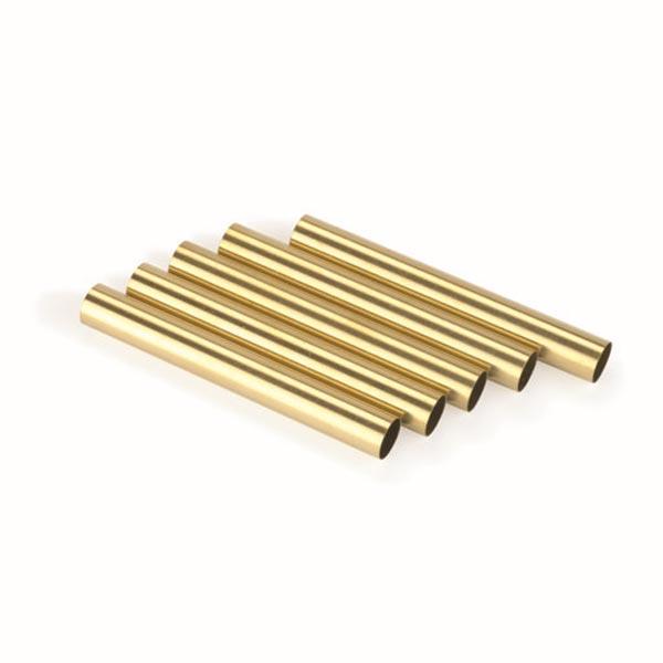 Replacement Brass Tubes for Law Enforcement Click Ballpoint Pen Kit 5pc.