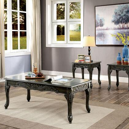 Cheshire Collection CM4914GY-3PK 3 Pc. Table Set (Coffee + 2 End) in