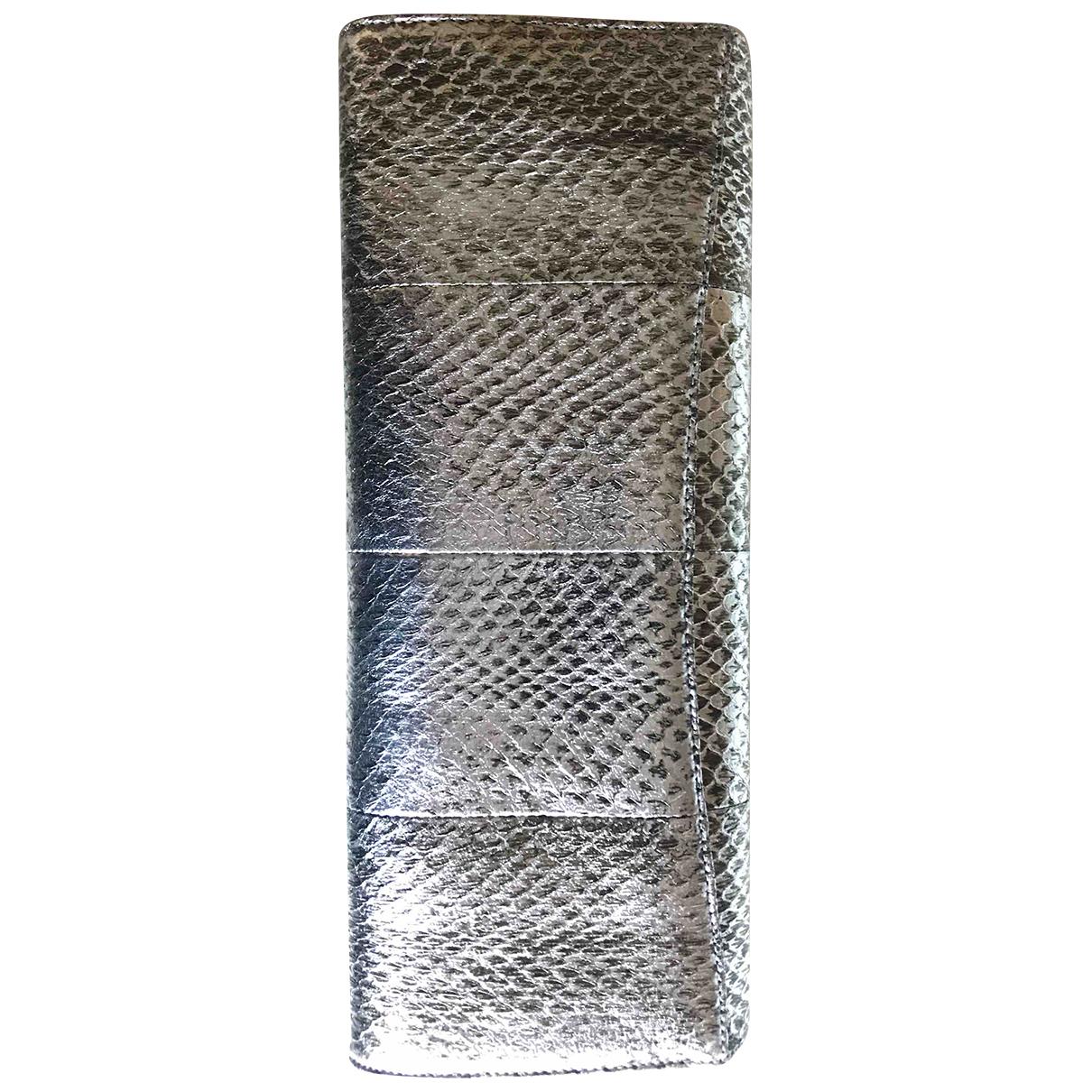 Rodo \N Clutch in  Silber Leder