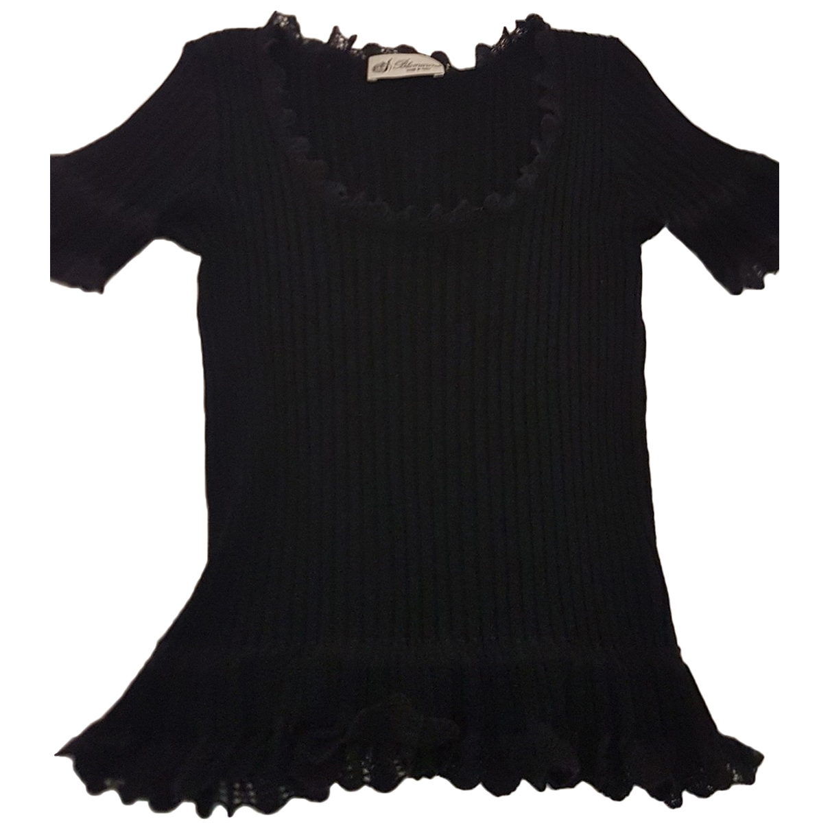 Blumarine - Top   pour femme en soie - noir