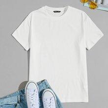 Camiseta unicolor tejido de canale