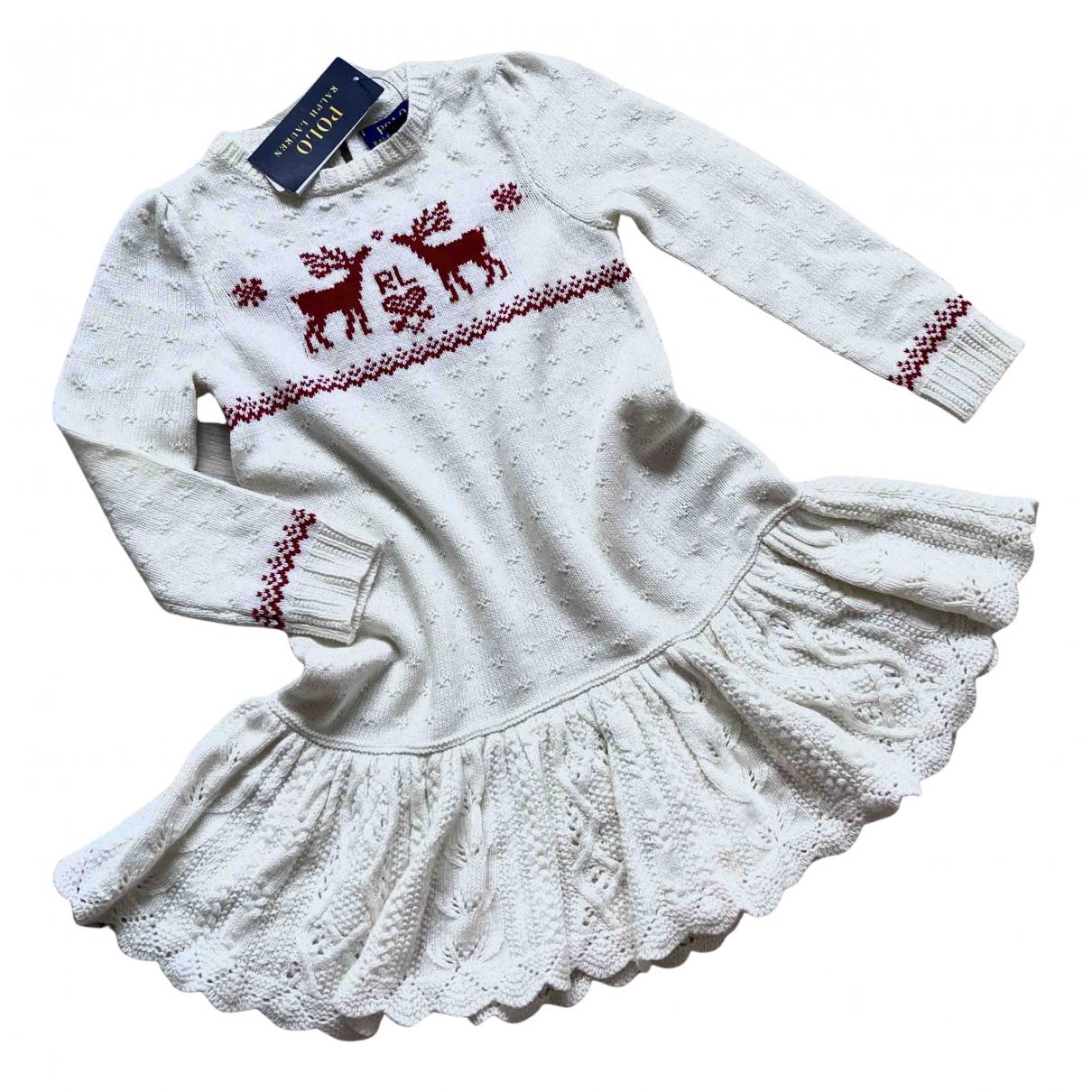 Polo Ralph Lauren - Robe    pour enfant en coton - beige