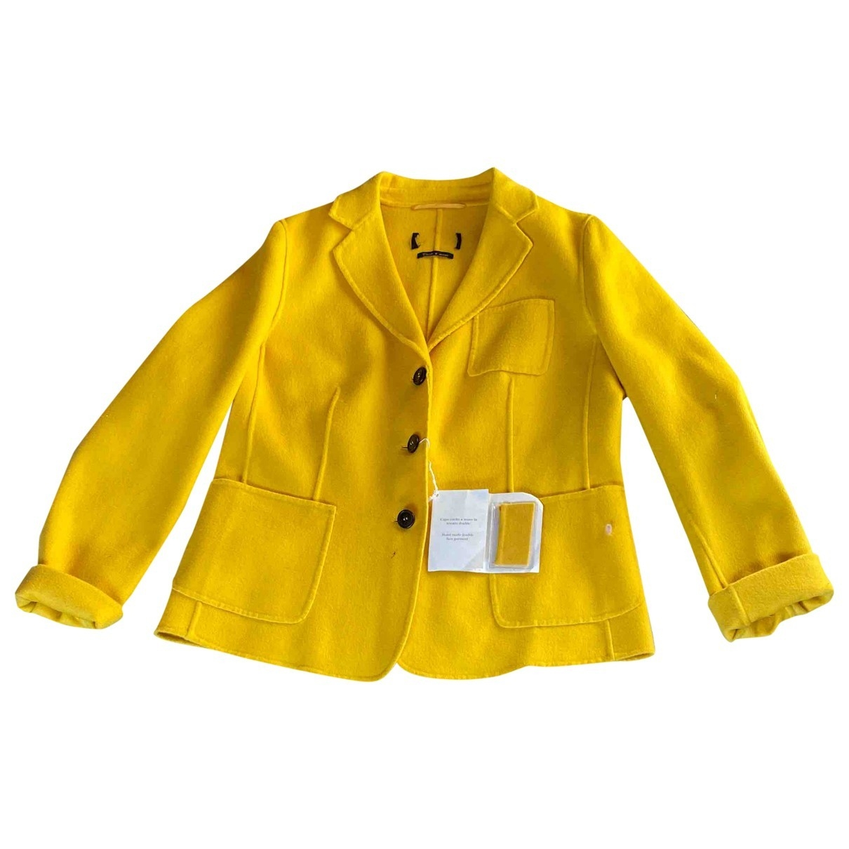 Non Signé / Unsigned \N Yellow Wool jacket for Women 46 IT
