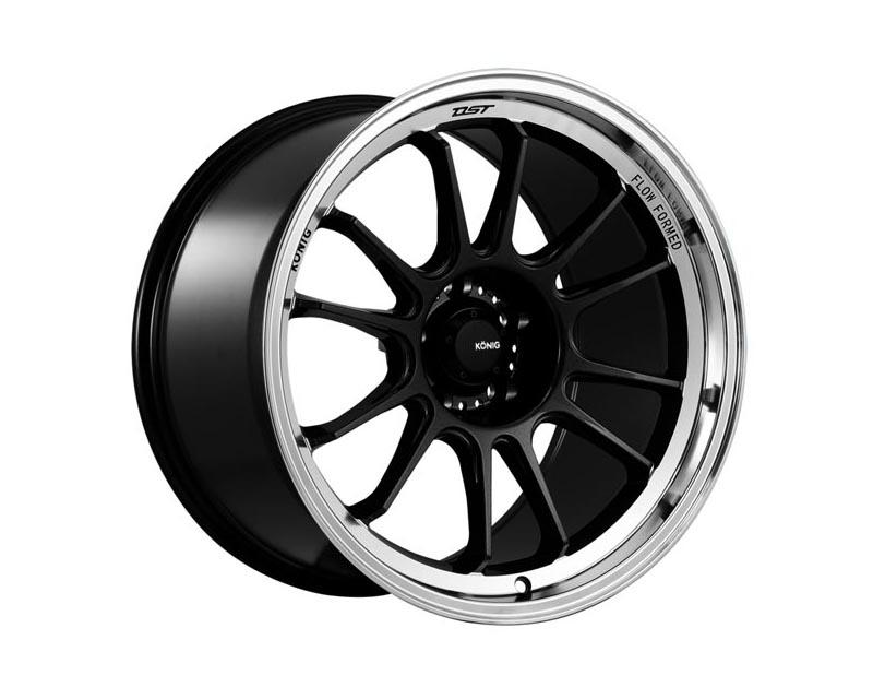 Konig Hypergram Wheel 15x7.5 4x1000 35 DGGLML Metallic Carbon w/Machined Lip