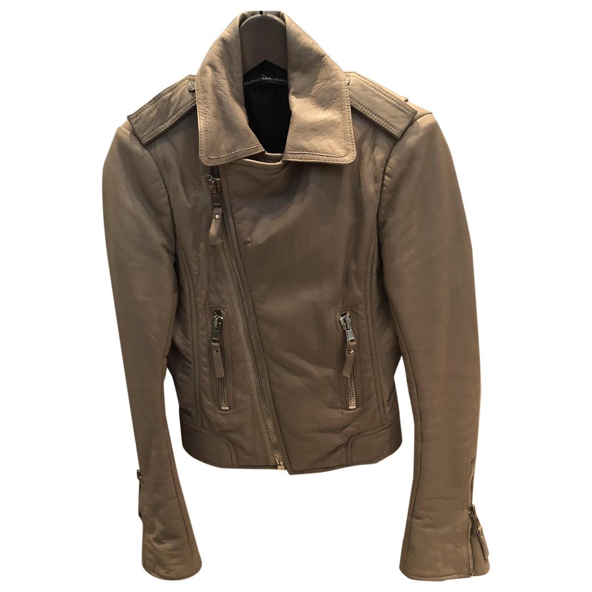 Balenciaga \N Grey Leather jacket for Women 36 FR