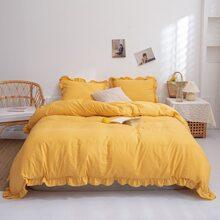 Set de cama unicolor sin relleno