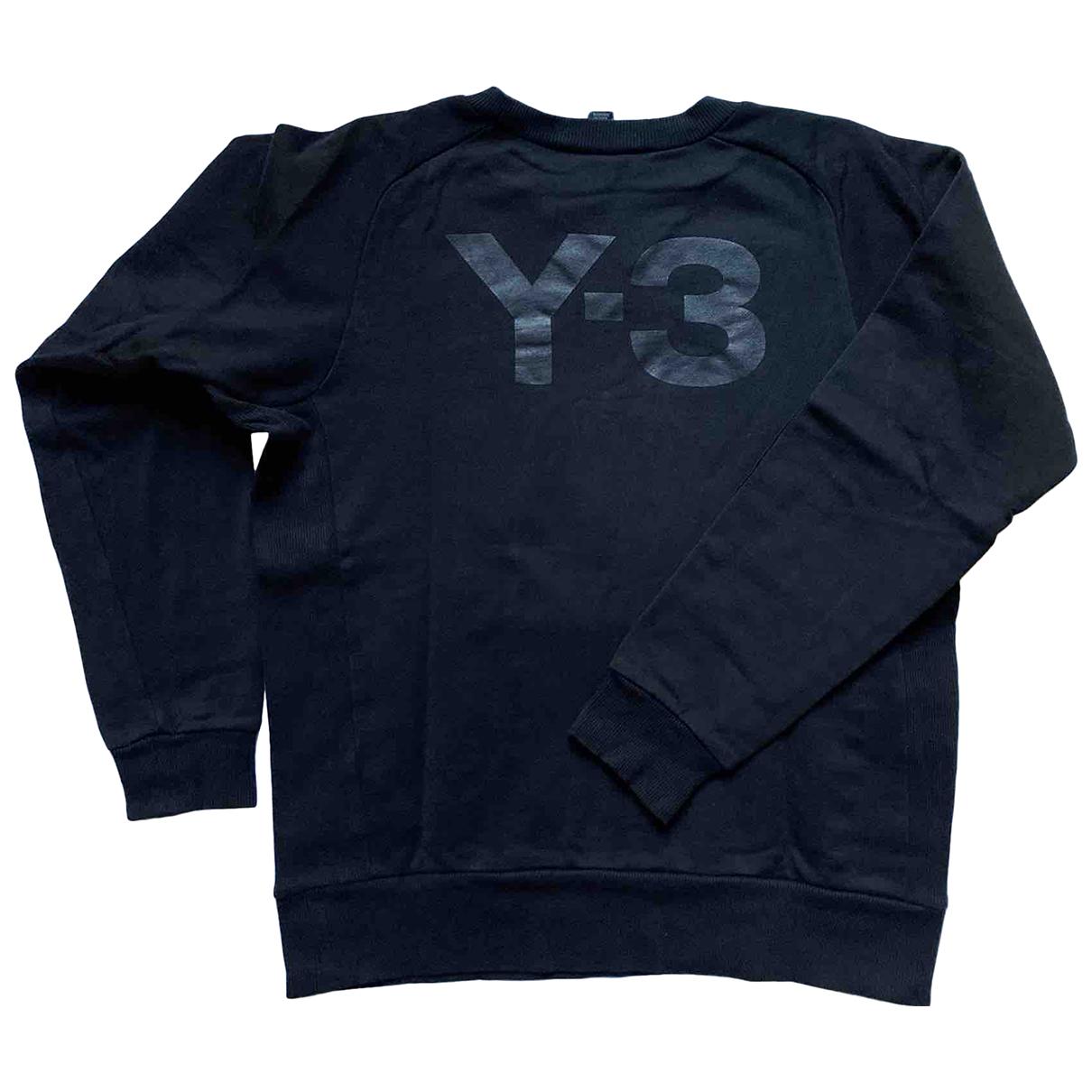 Y-3 \N Pullover.Westen.Sweatshirts  in  Schwarz Baumwolle