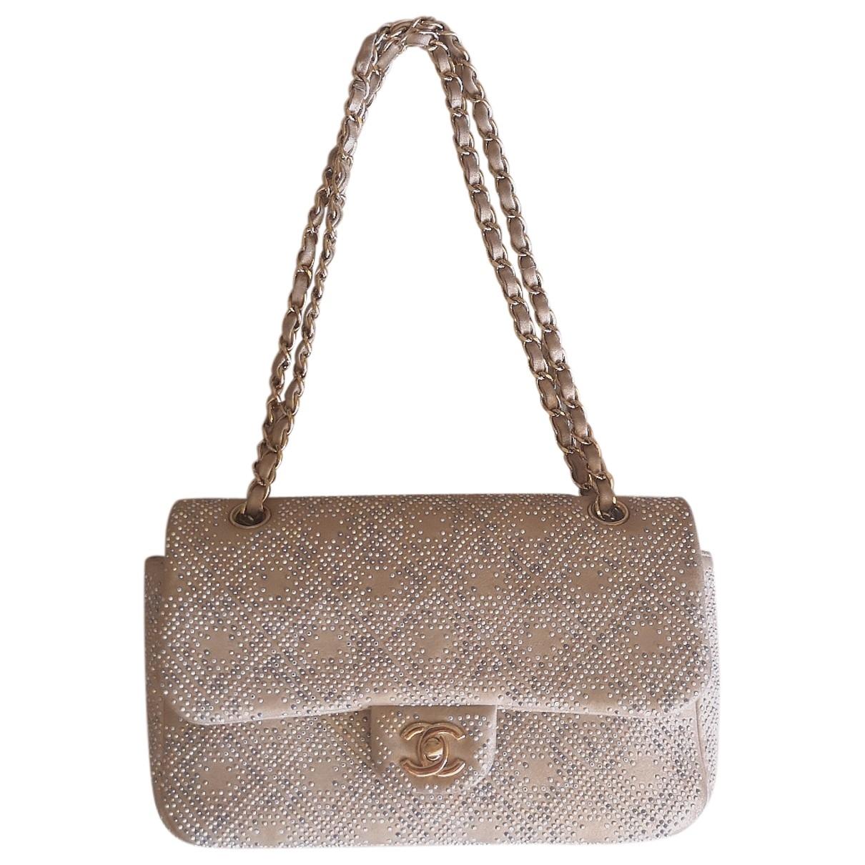 Chanel - Sac a main Timeless/Classique pour femme en cuir - dore