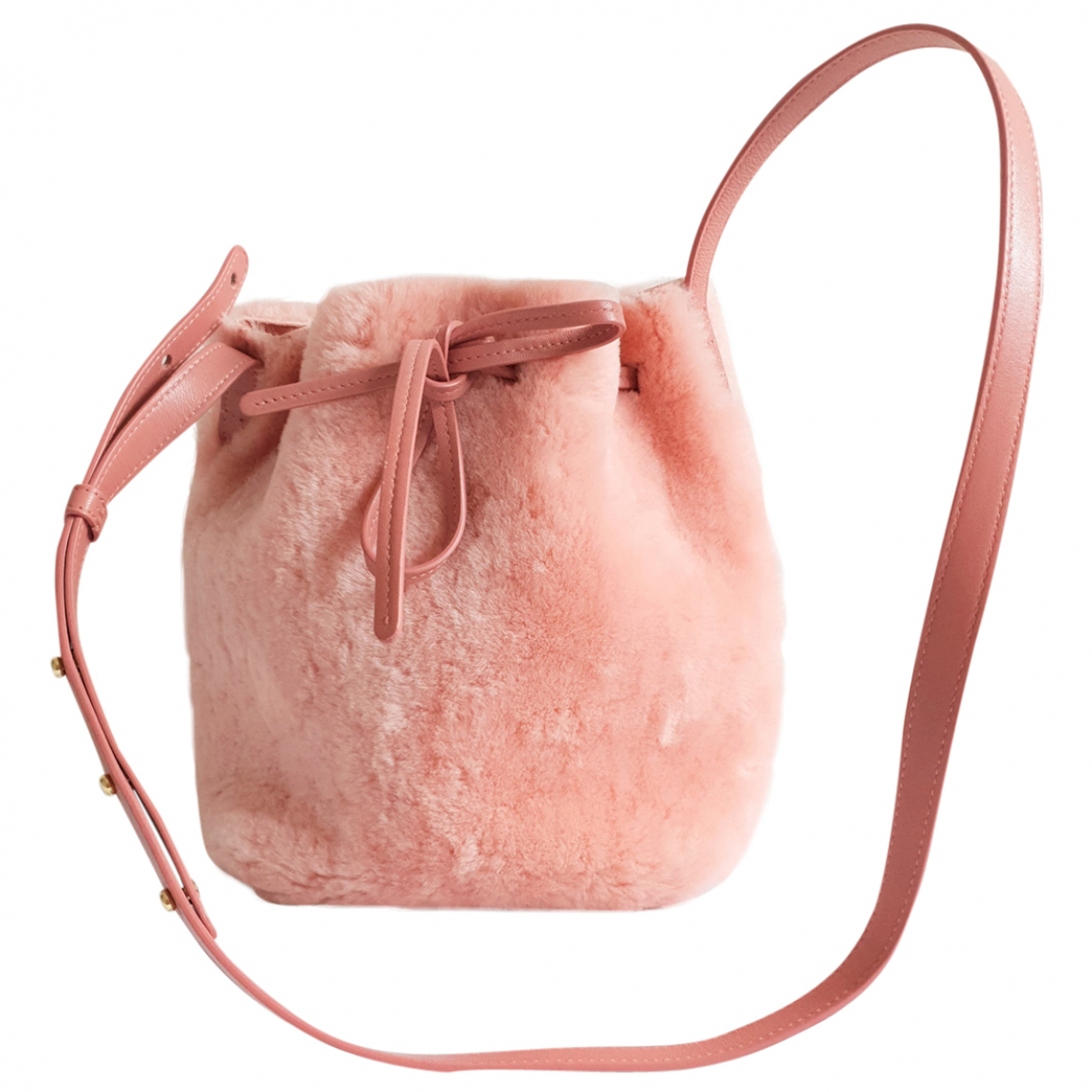 Mansur Gavriel Bucket Pink Leather handbag for Women \N