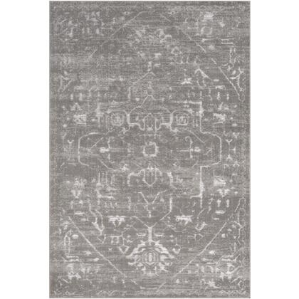 Florence FRO-2308 710 x 102 Rectangle Traditional Rug in Medium Gray  Light