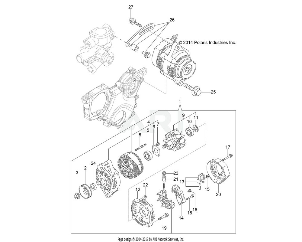 Polaris OEM 3070345 BEARING, BALL