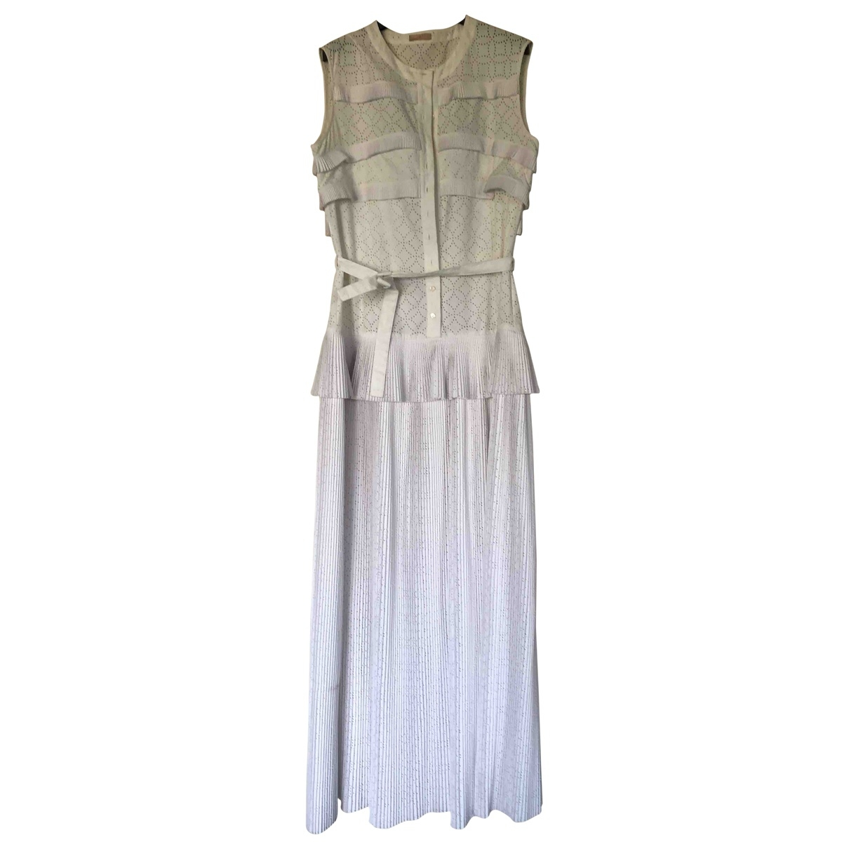 Alaia \N Kleid in  Weiss Baumwolle