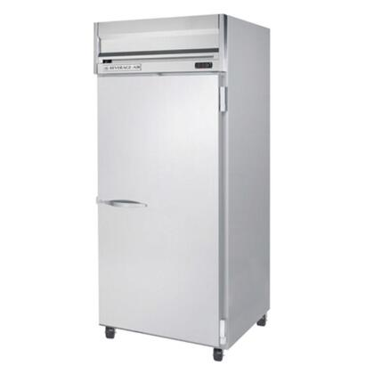HF1W-1S 35 Horizon Series One Wide Section Solid Door Reach-In Freezer  34 cu.ft. capacity  Stainless Steel Front  Gray Painted Sides  Aluminum