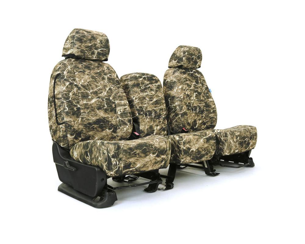 Coverking CSCMO22FD10082 Skanda Custom Seat Covers 1 Row Neosupreme Mossy Oak Elements Bronzeback Solid Rear Ford F-250 | F-350 Super Duty 2019-2021