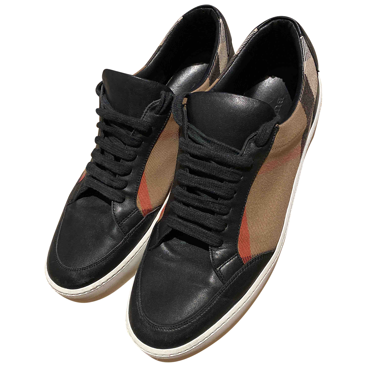 Burberry - Baskets   pour femme en cuir - noir