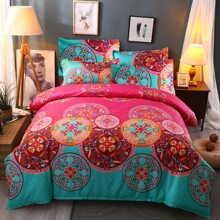 Graphic Print Bedding Set Without Filler