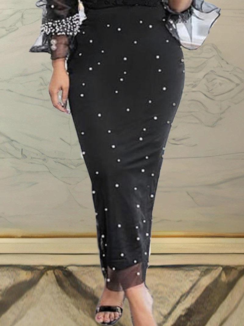Ericdress Ankle-Length Bodycon Bead Womens Casual Skirt