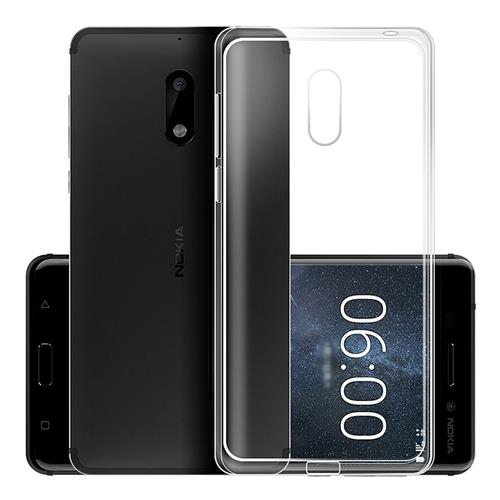 Nokia 6 Silicone Case Protective TPU Phone Shell Back Cover - Transparent