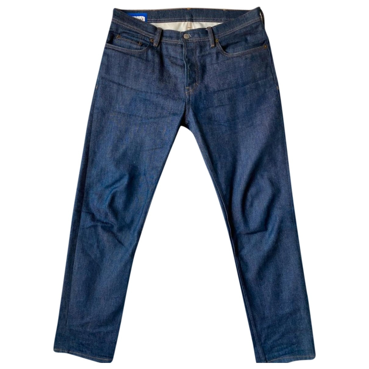 Acne Studios \N Blue Cotton - elasthane Jeans for Men 31 US