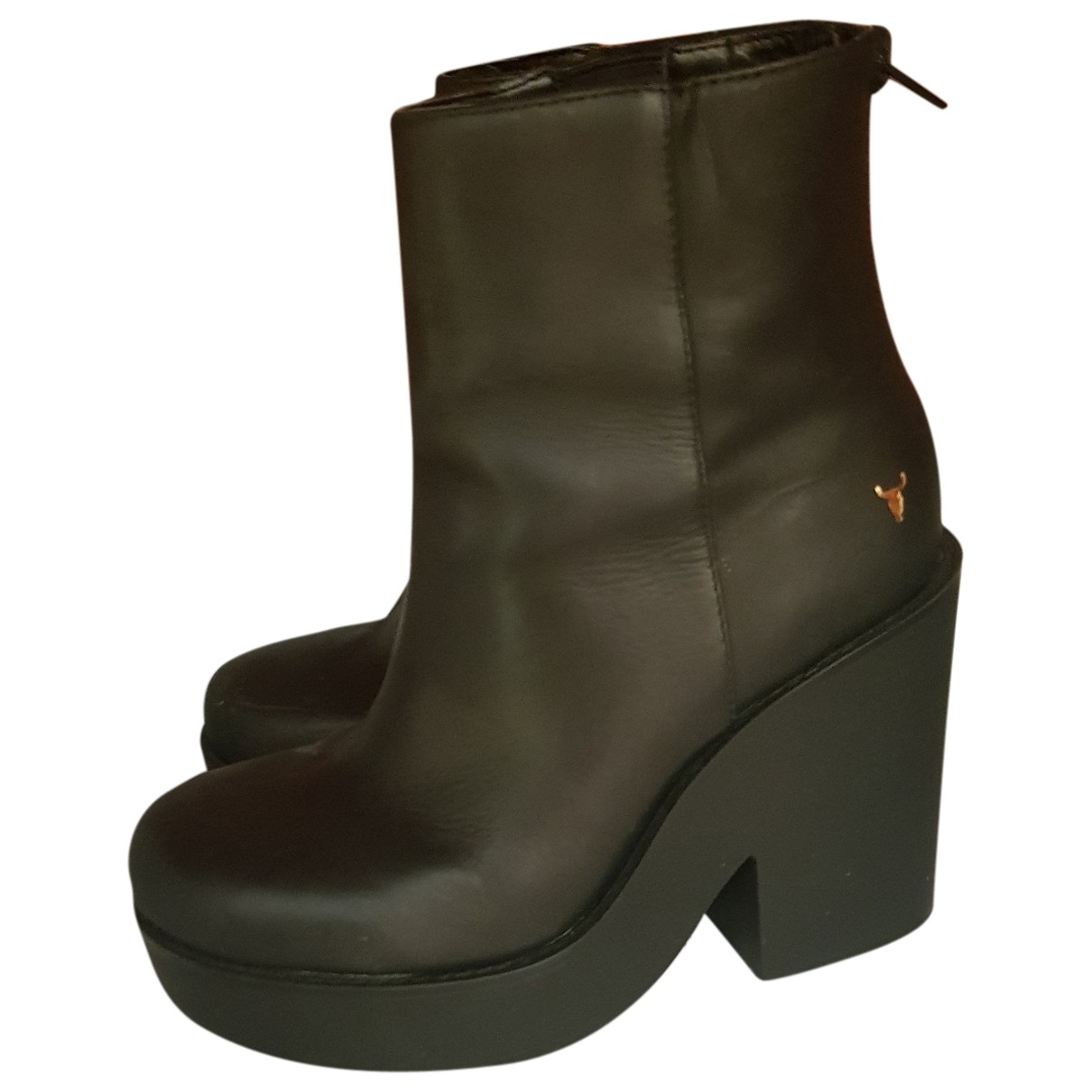 Windsor Smith \N Stiefeletten in  Schwarz Leder