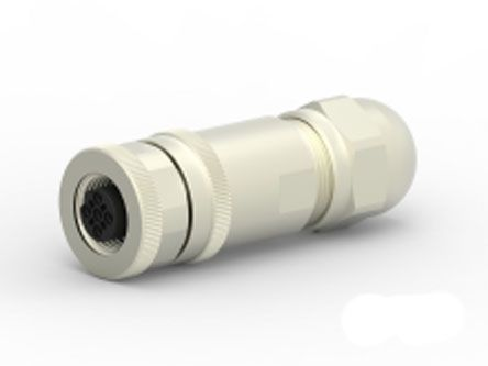 TE Connectivity Circular Connector, 5 contacts Cable Mount M12 Socket, Screw IP67, IP68