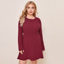 Strick Kleid mit hoher Taille