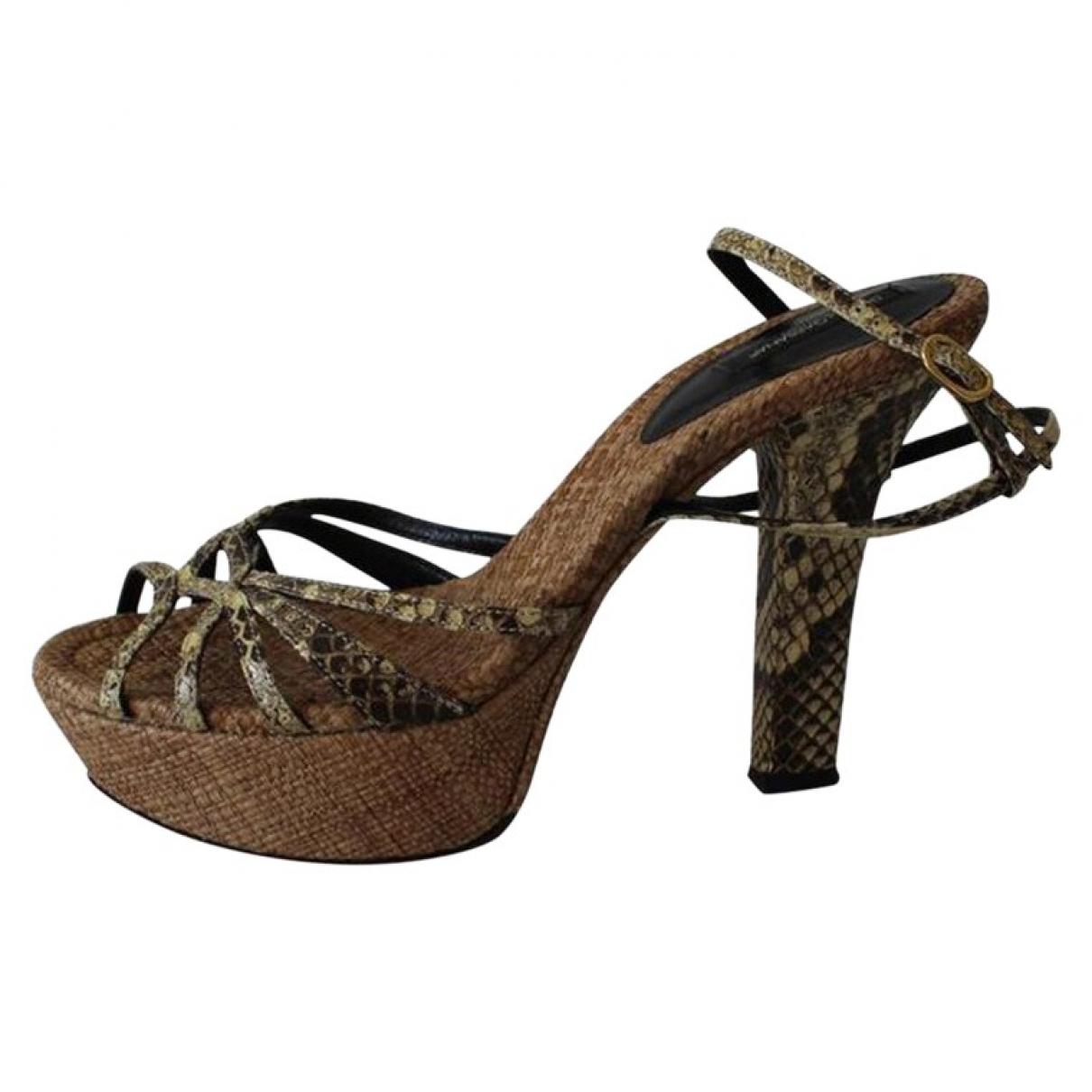 Dolce & Gabbana \N Beige Python Sandals for Women 39 EU
