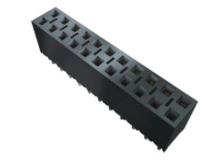 Samtec , BCS 2.54mm Pitch 12 Way 1 Row Straight PCB Socket, Through Hole, Solder Termination (18)