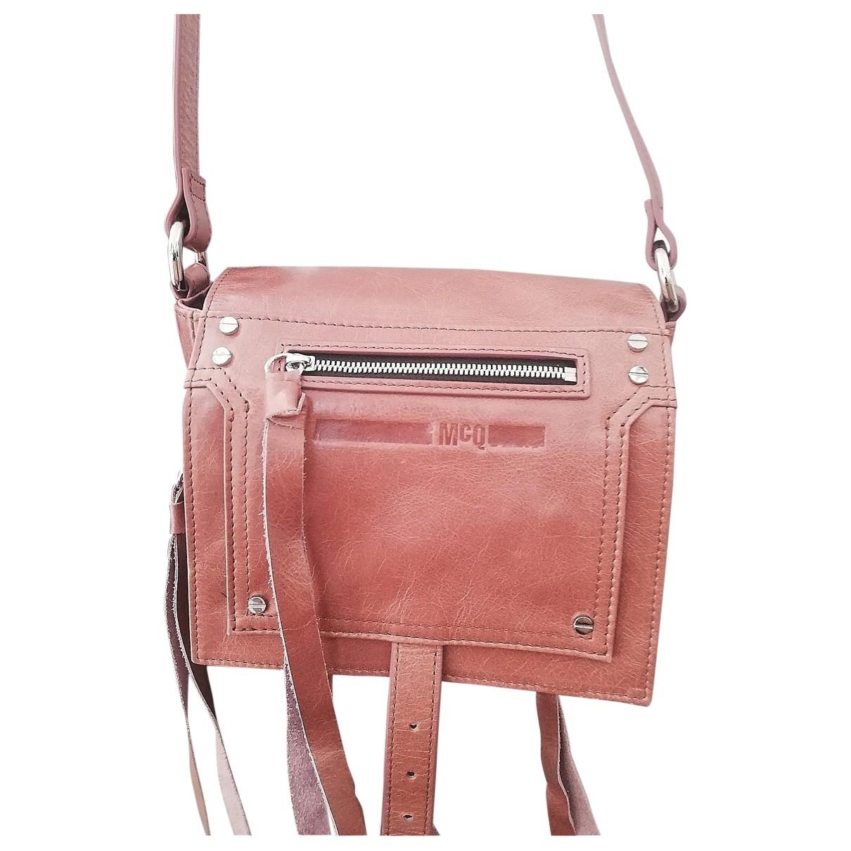 Mcq \N Handtasche in  Rosa Leder