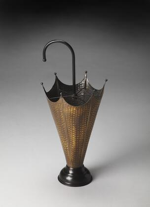 Poppins Collection 3285016 Umbrella Stand with Traditional Style  Round Shape and Iron Metal Material in Hors D'oeuvres
