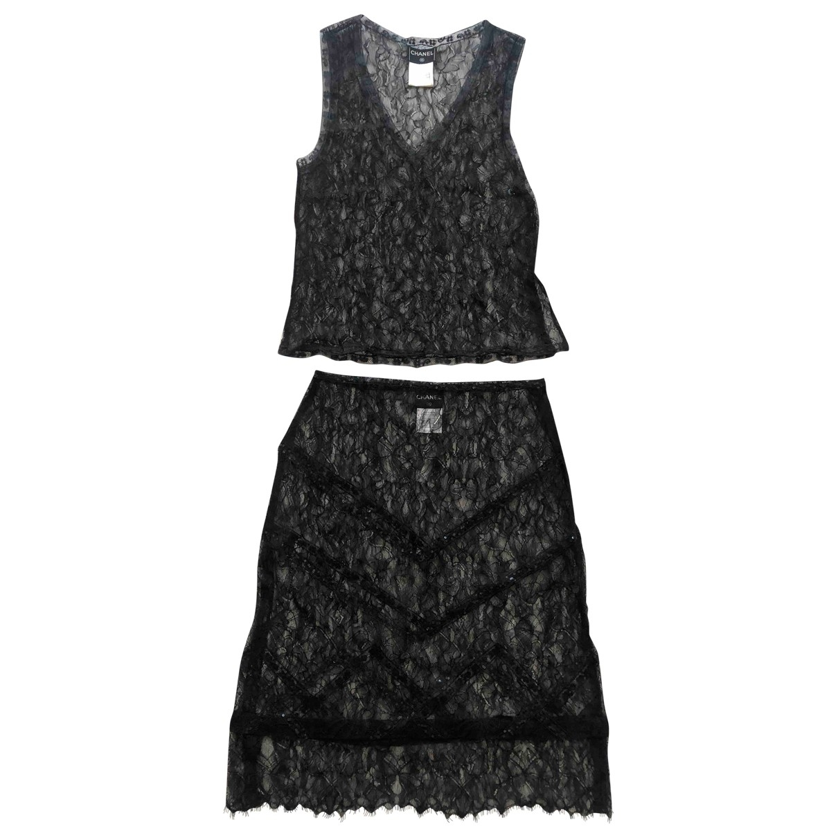 Chanel \N Black Lace dress for Women 40 FR