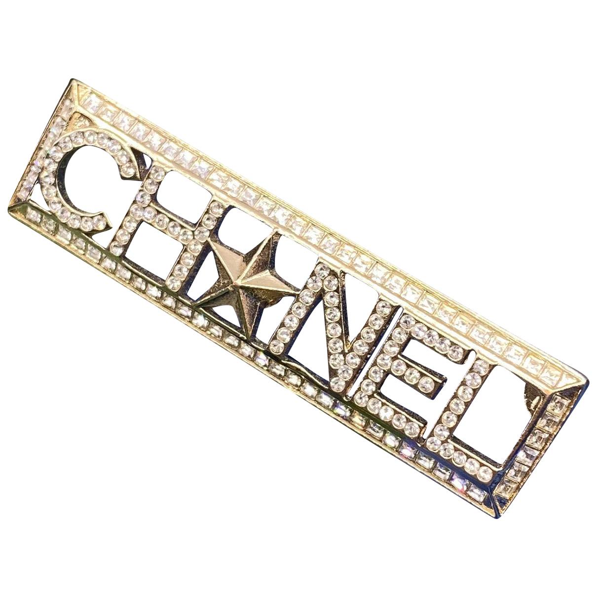 Chanel - Broche   pour femme en argent - dore