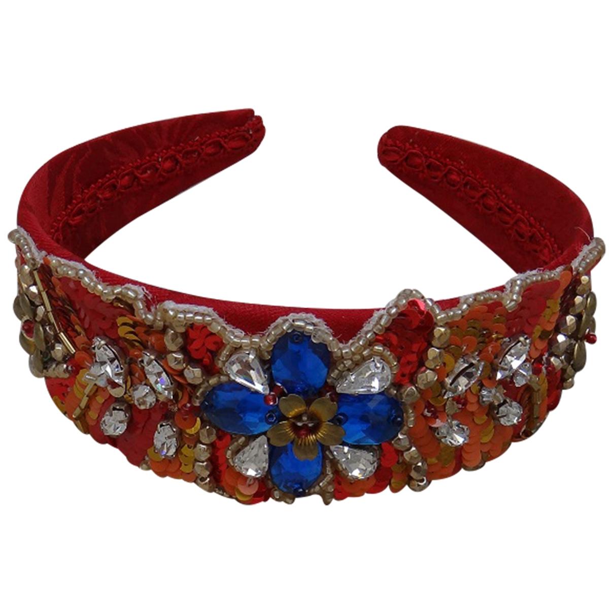 Dolce & Gabbana \N Haarschmuck in  Rot Leinen