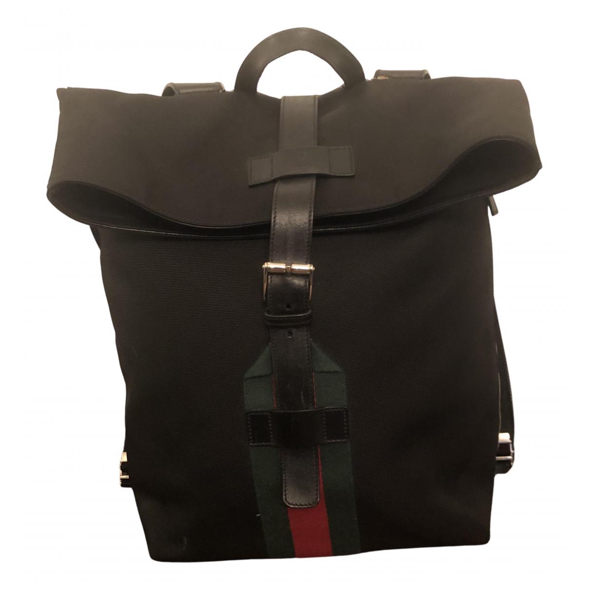 Gucci N Black Cloth backpack for Women N