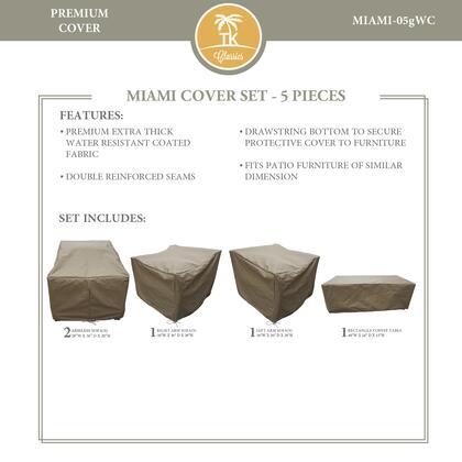 Miami MIAMI-05gWC MIAMI-05g Protective Cover Set in