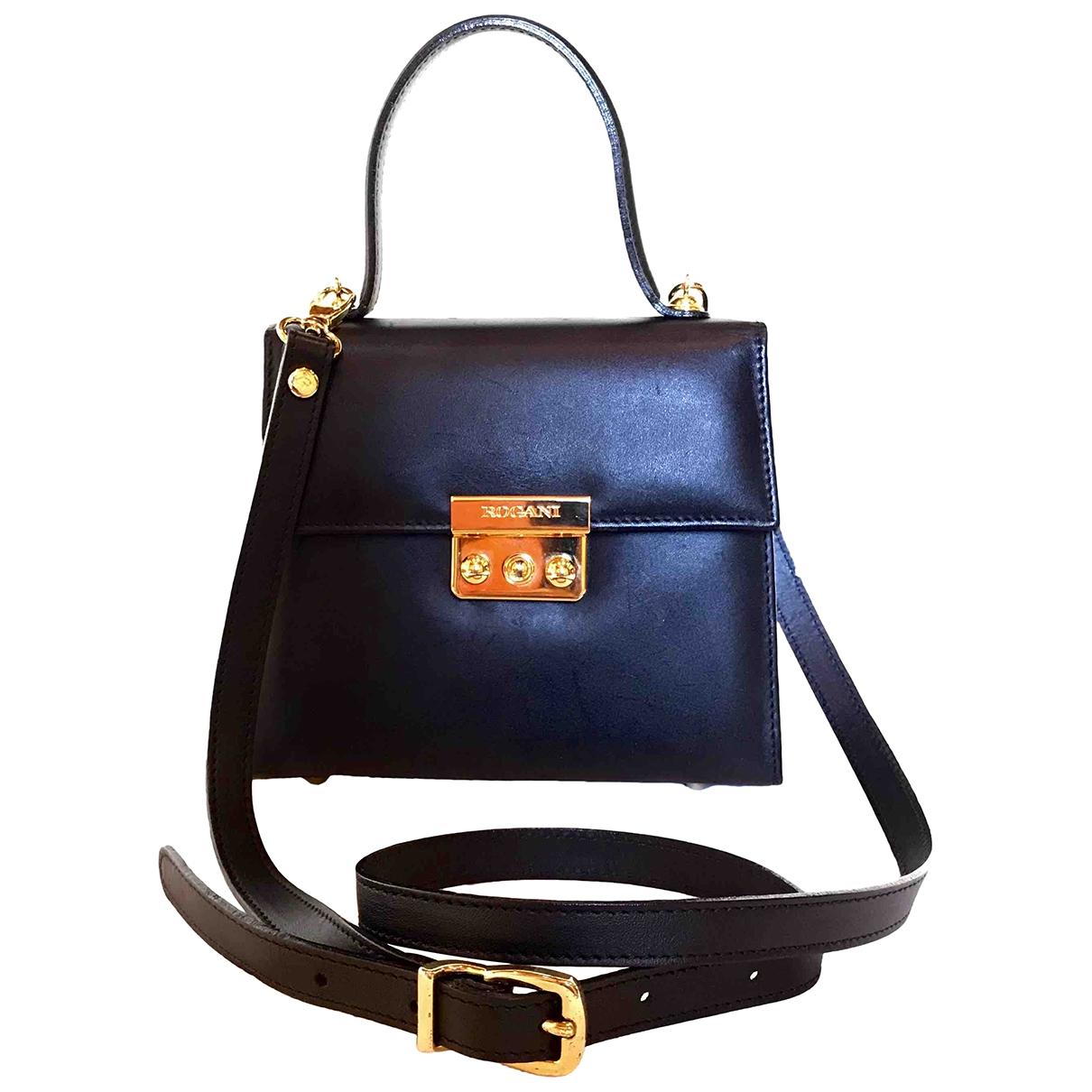 Francesco Rogani \N Black Leather handbag for Women \N