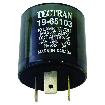 Tectran 19-65103 - Flasher 10 Lamp  20 A 3 Prongs (Stock Code: 4100...