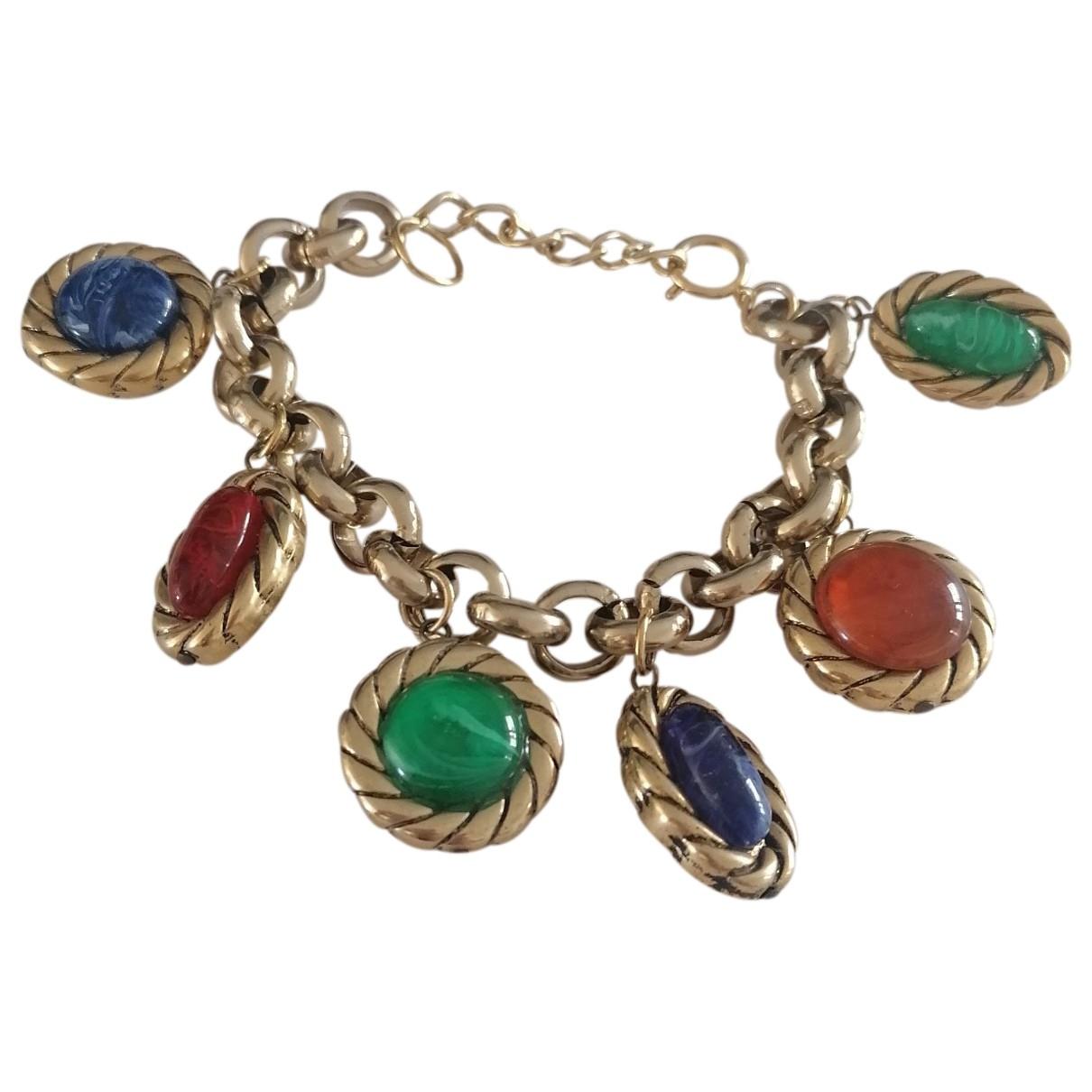 - Bracelet Art Deco pour femme en metal - dore