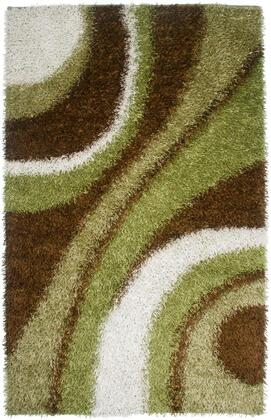KNMKM232400300507 Kempton KM2324-5' x 7' Hand-Tufted 100% Polyester Rug in Green  Rectangle
