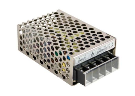 Mean Well 15W Isolated DC-DC Converter Chassis Mount, Voltage in 36 → 72 V dc, Voltage out 24V dc