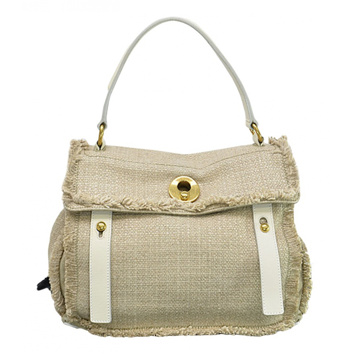 Yves Saint Laurent Muse Two Handtasche in  Beige Leinen