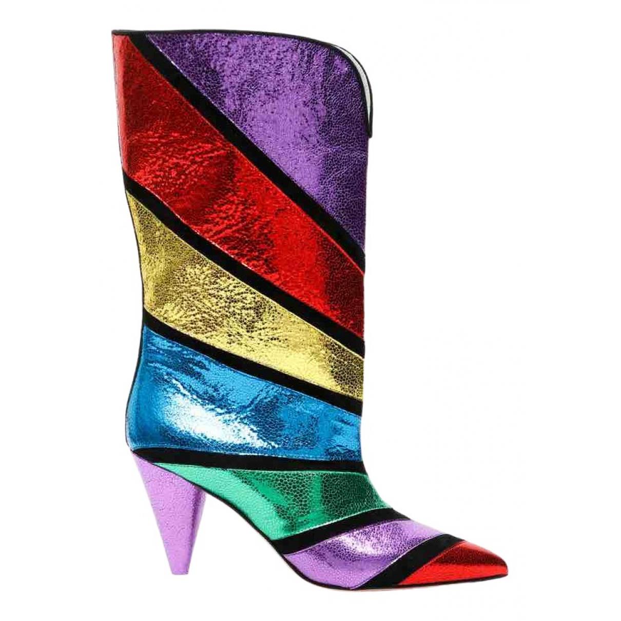 Attico \N Multicolour Leather Boots for Women 38 IT