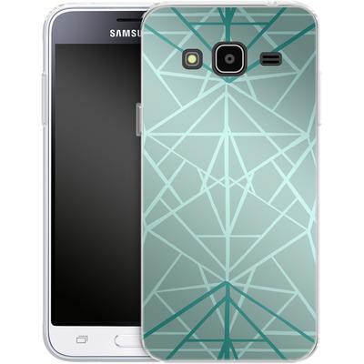 Samsung Galaxy J3 (2016) Silikon Handyhuelle - Geometric Sketches 3 von Mareike Bohmer